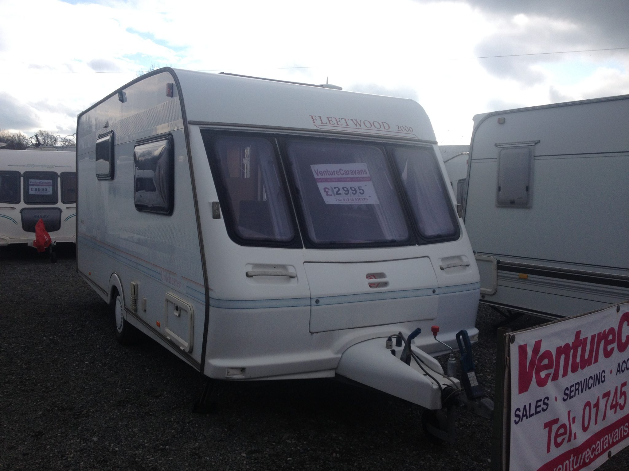 Simple Fleetwood Colchester 500EB Used Caravans For Sale North Wales